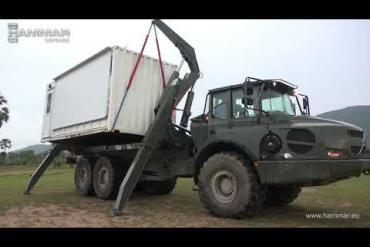 HAMMAR sideloader with ATMAT-ISL ( All Terrain Mobility Articulated Transport) concept